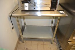 """Stainless Steel Table, 24"""" x 36"""""""