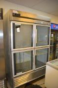 True (4) 1/2 Glass Door Refrigerator, T-49G-4