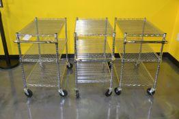 Rolling 3-Shelf Metro Carts