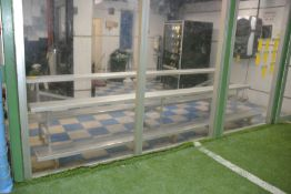Soccer Field Consisting of Plexi-Glass Walls, 2 Goals and AstroTurf Field