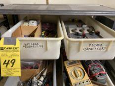 LOT - Multi Meters, Capacitors, Probes, Test Leads