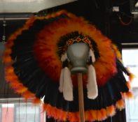 Indian Head Dress on Mannequin Head