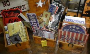 Boxes of Assorted Signs