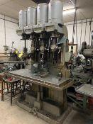 4-Head Drill Press w/ No. 2B Tapper