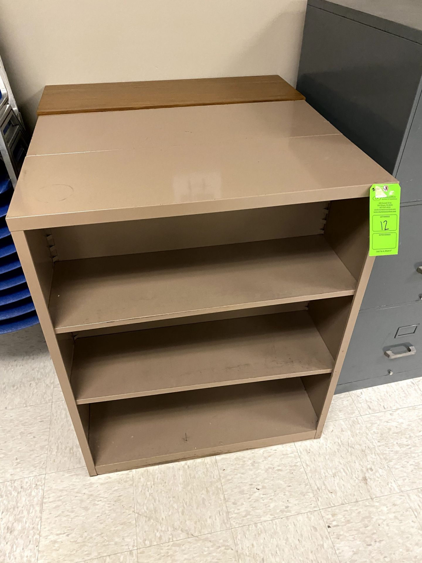 (3) STEELCASE BOOK SHELVE(S) -- (7625 OMNITECH PLACE VICTOR NEW YORK)