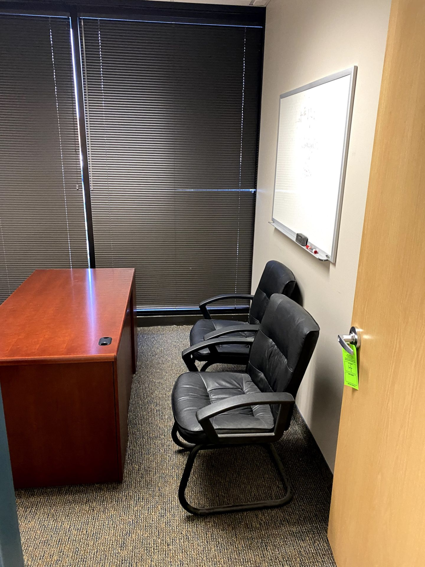 CONTENTS OF OFFICE INCLUDING: (2) CHAIRS EXECUTIVE DESK HORZ FILING CABINET & DRY ERASE BOARD -- (