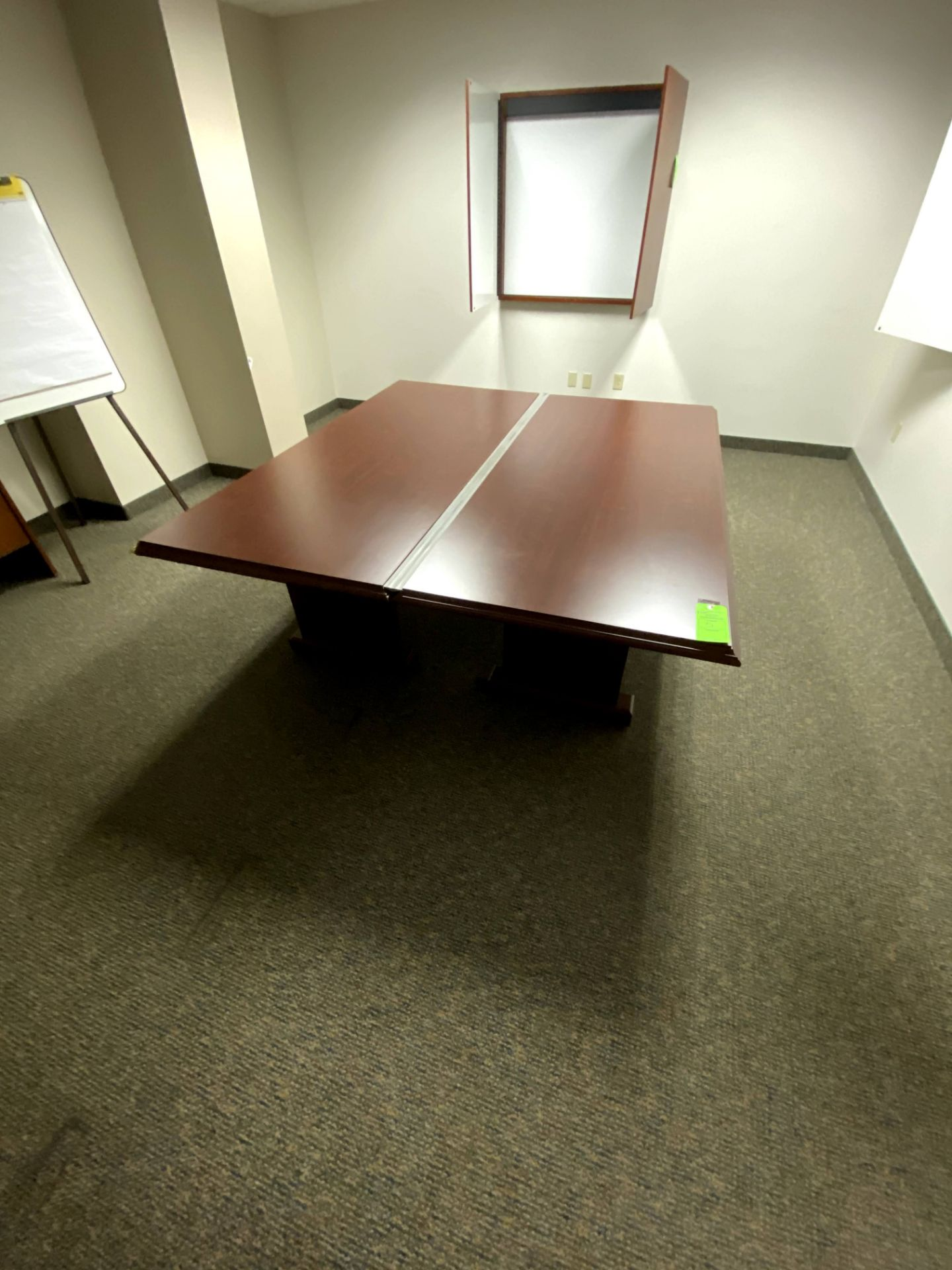 (2) 7' x 3' ARRANGEABLE CHERRY WOOD EXECUTIVE CONFERENCE TABLE(S) -- (7625 OMNITECH PLACE VICTOR NEW