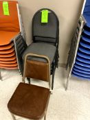 (6) STEEL STACKABLE CHAIR(S) WITH CLOTH SEAT & BACK -- (7625 OMNITECH PLACE VICTOR NEW YORK)