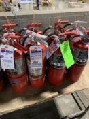 (8) VARIOUS FIRE EXTINGUISHERS 16 LBS