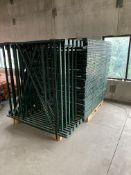GRAVITY FLOW RACKING SYSTEM INCLUDING: 25 UPRIGHTS; APPROX. 130 CROSSBARS; APPROX. 275 SECTIONS OF