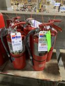 (3) SILCO FIRE EXTINGUISHERS; (2) ASULSENTRY FIRE EXTINGUISHERS 10 LBS