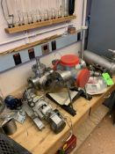 LOT OF VARIOUS MDC VACUUM PUMP FITTINGS: INCLUDING AIR CADET MODEL 7530-40 PUMP; EDWARDS DIFFSTAK