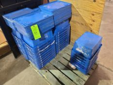 PALLET OF PLASTIC BINS WITH LIDS
