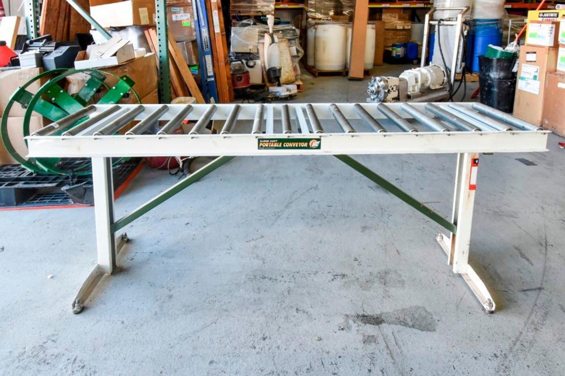 Super Duty Portable Folding Roller Conveyor 5'7''