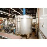Large Jacketed Mixing Tank 1000 Gallon