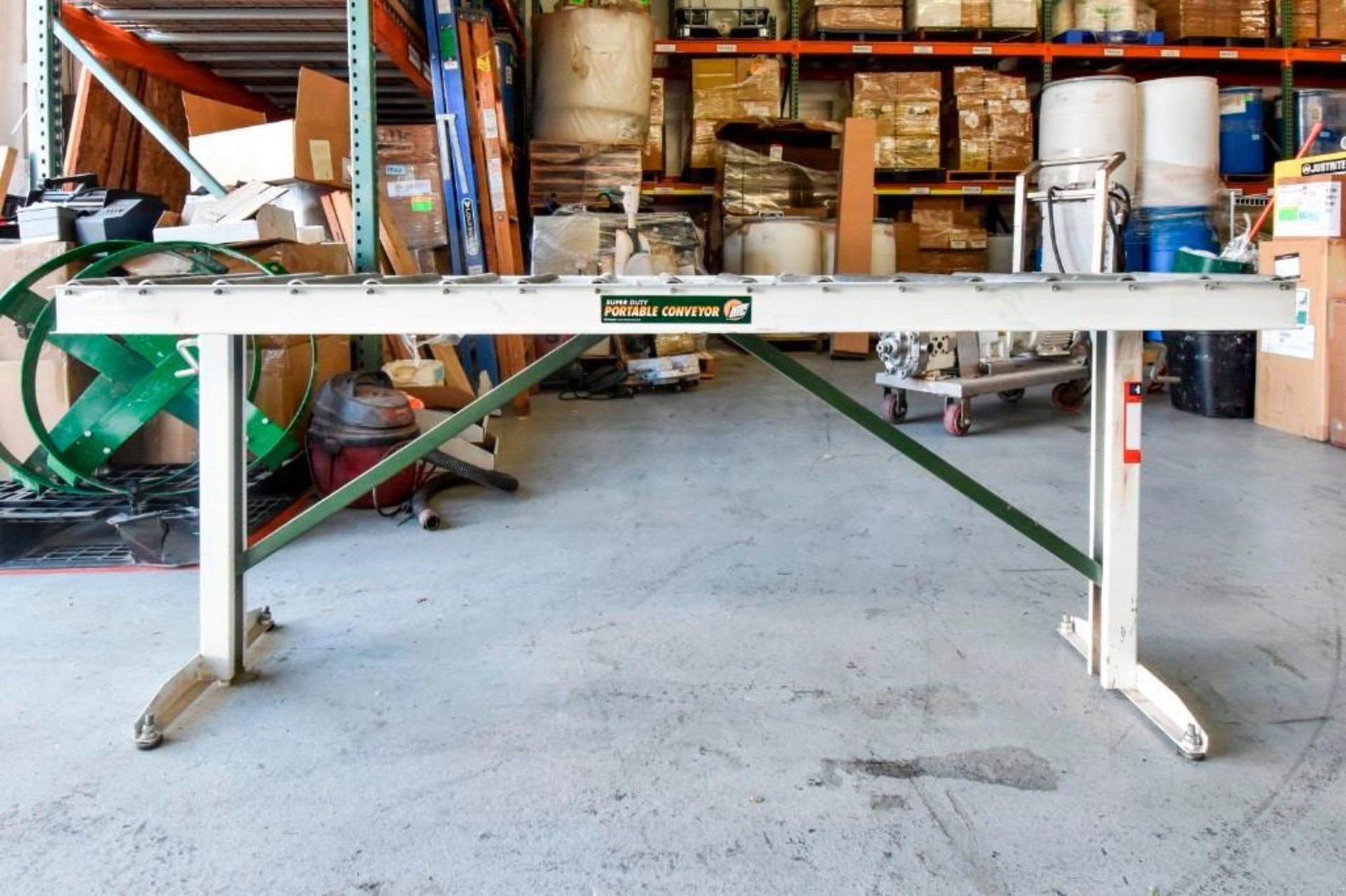Super Duty Portable Folding Roller Conveyor 5'7'' - Image 3 of 11