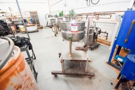 Small Jacketed Kettle On Casters