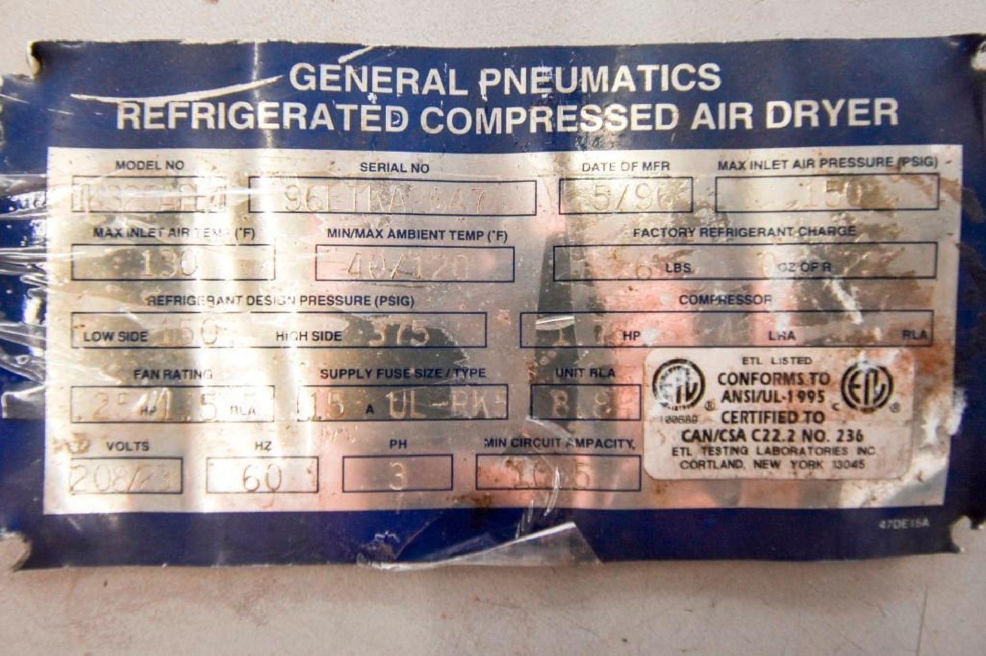 General Pneumatics Compressed Air Dryer - Image 7 of 12