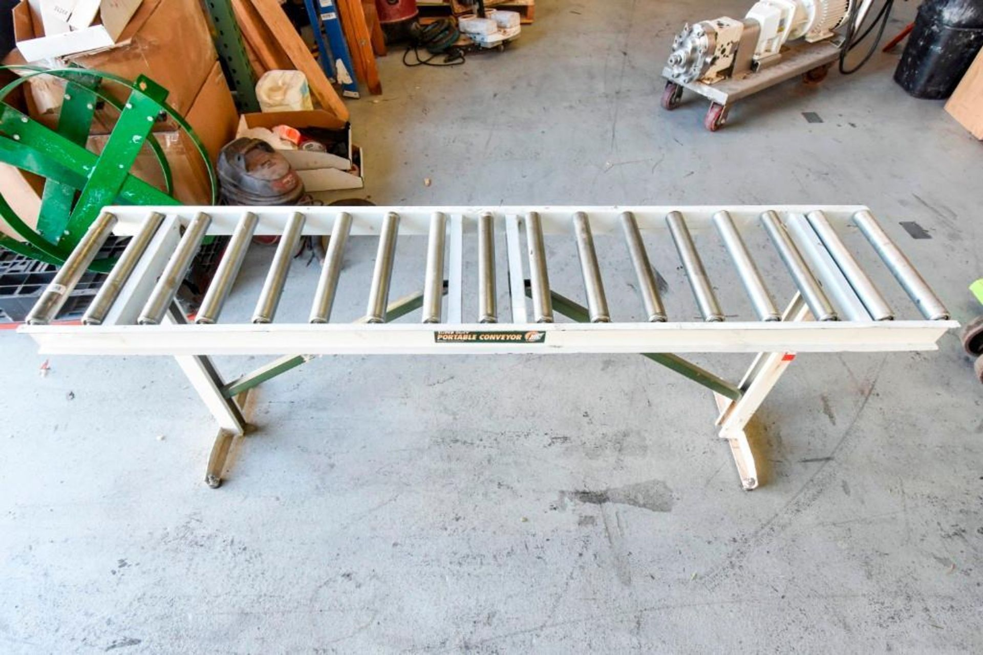 Super Duty Portable Folding Roller Conveyor 5'7'' - Image 4 of 11