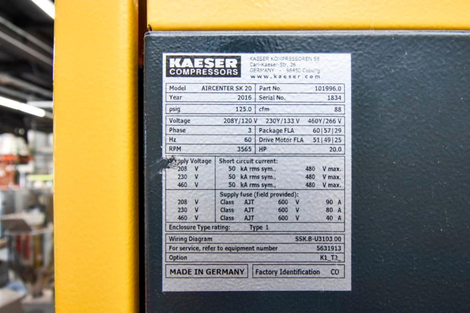 Kaeser Sigma Aircenter Compressor - Image 16 of 17