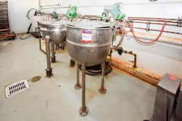 2/3 Jacketed Mixing Kettle With High Sheer Agitation