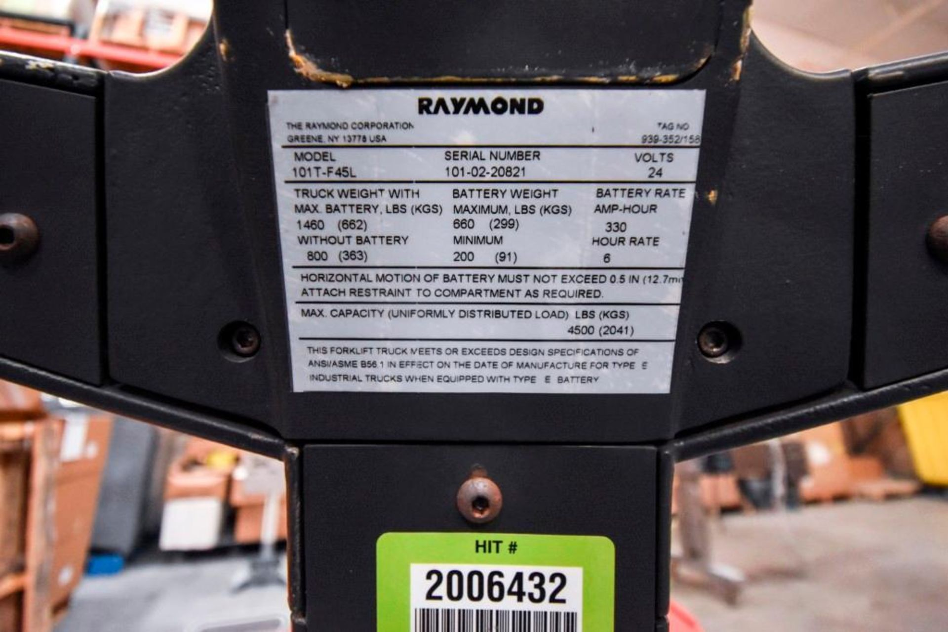 Raymond Electric Pallet Jack - Image 9 of 10