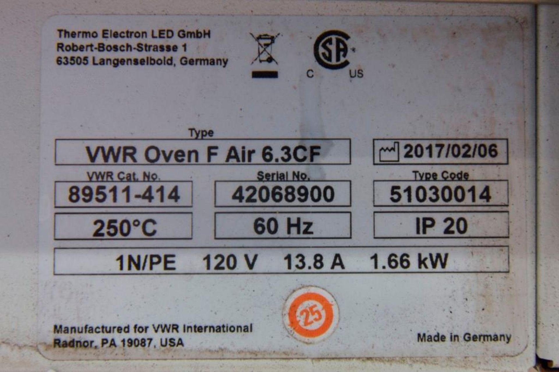 VWR Forced Air Oven - Image 13 of 13