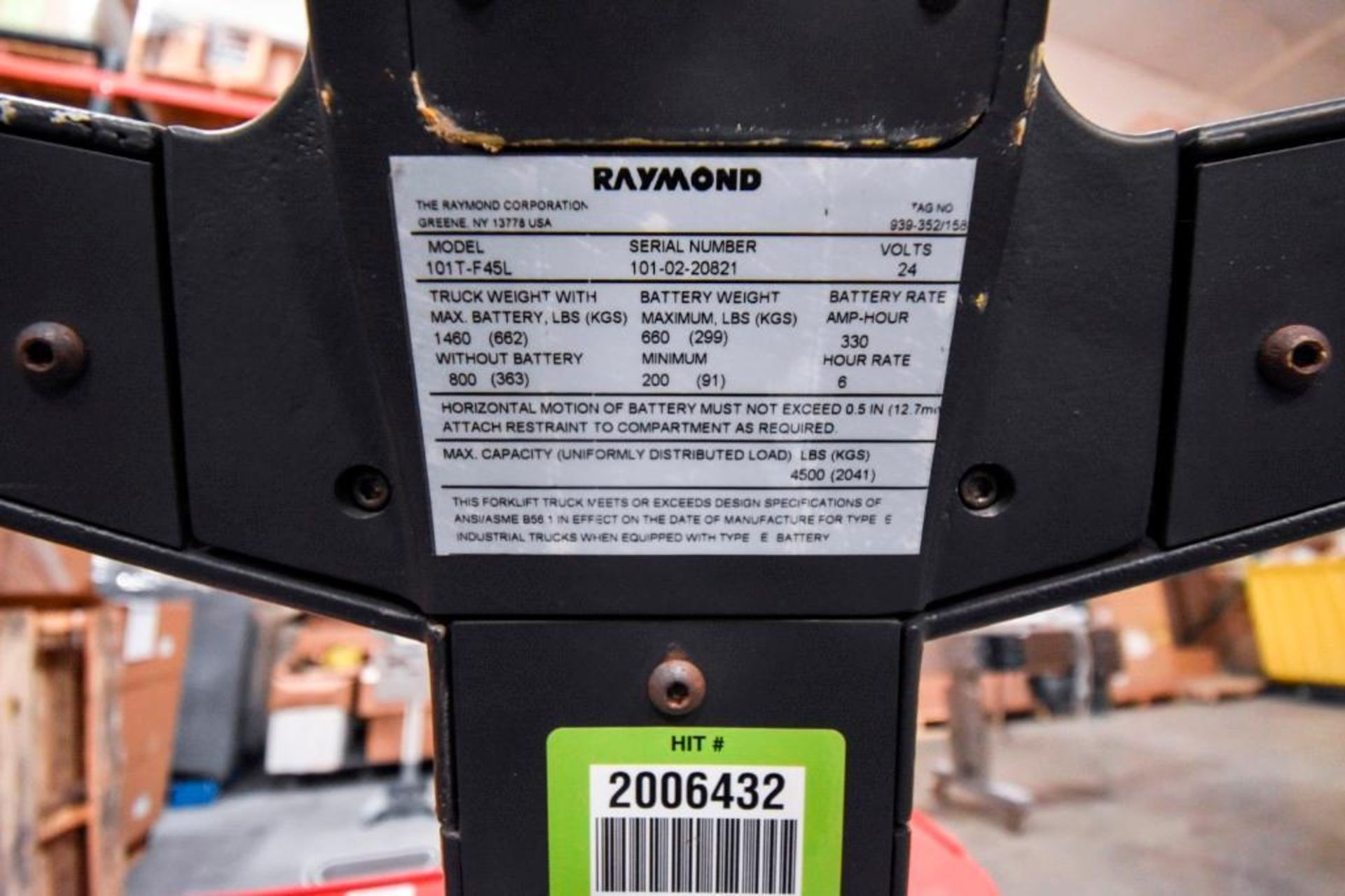 Raymond Electric Pallet Jack - Image 10 of 10