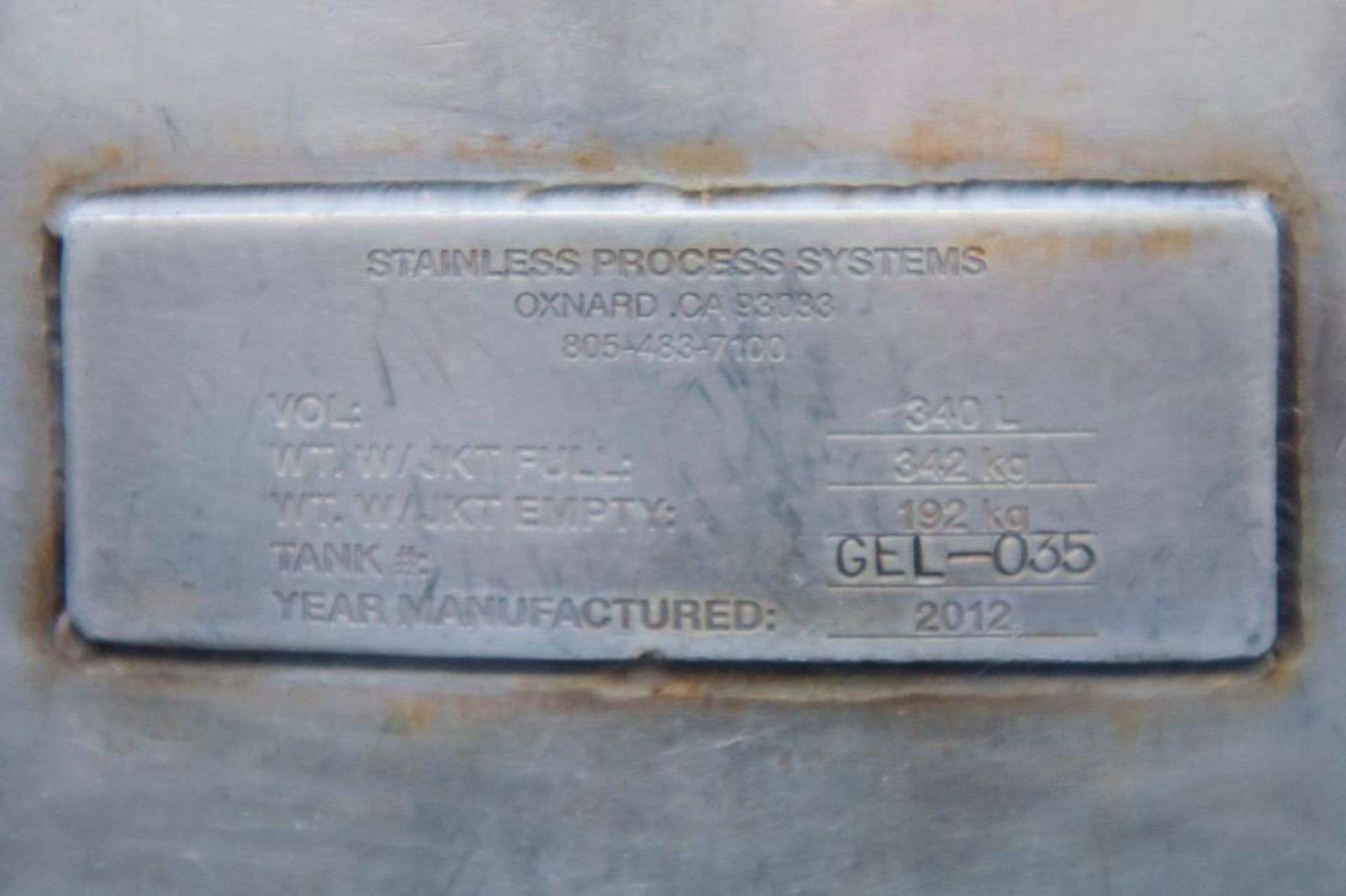 Jacketed Stainless Steel Holding Tank 340L - Image 18 of 18