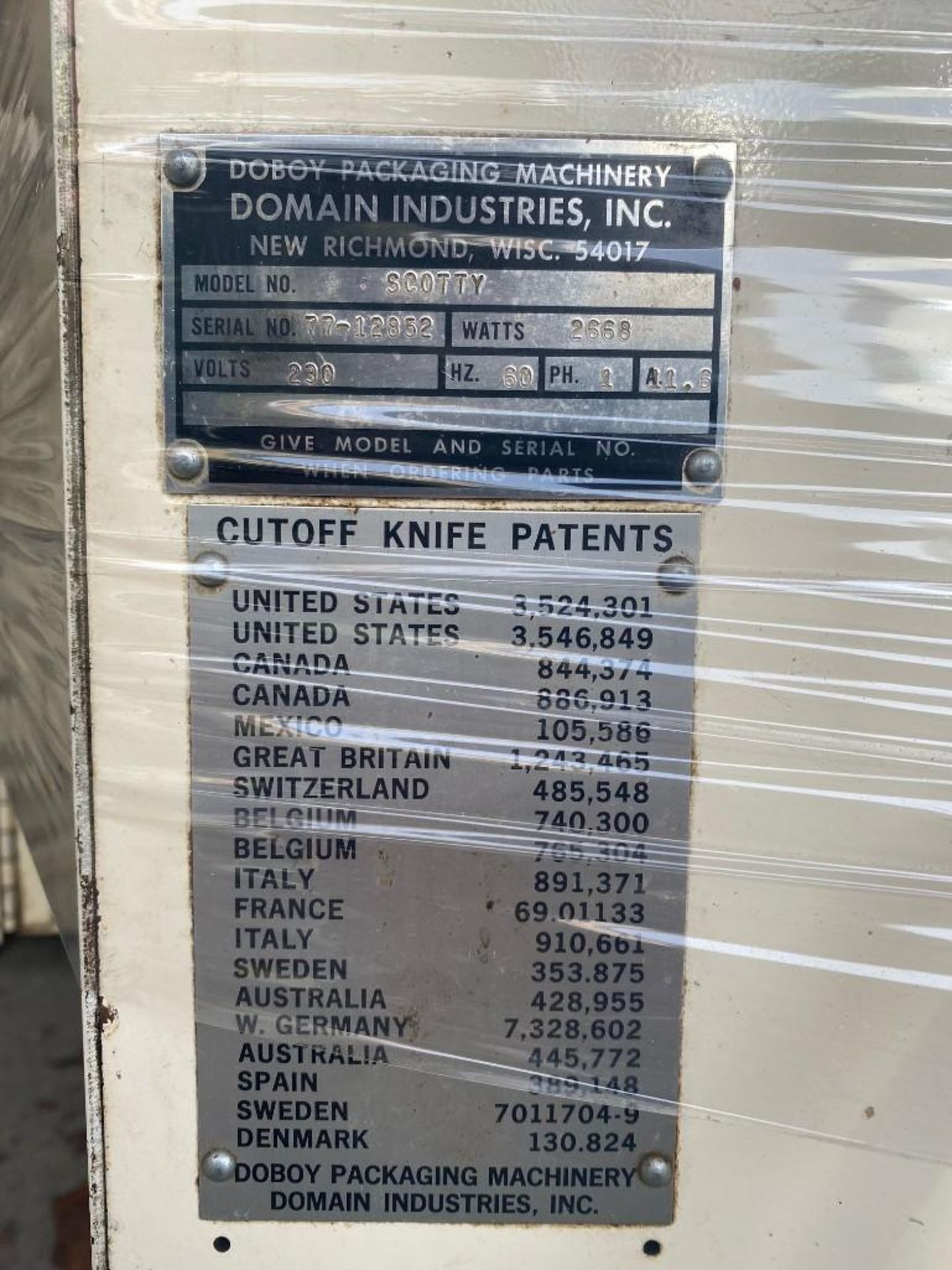 Doboy Packaging Machinery Scotty Flow wrapper - Image 4 of 4