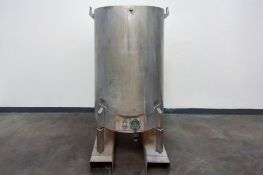 Jacketed Stainless Steel Holding Tank 340L