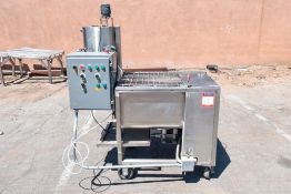 Dual Shaft Paddle Blender with Liquid Hopper and agitation blade