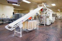Winkler AutoMatische Incline Dough Conveyor 17'.5'' with stainless steel dough feeder