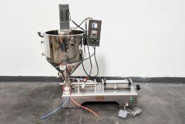 Quantitative Semi-Automatic Paste Liquid Filling Machine G1WG with Heated Hopper & Mixing Motor