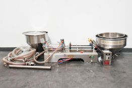 MJK0450 Double Liquid Automatic Pneumatic with Filler Heating Hopper