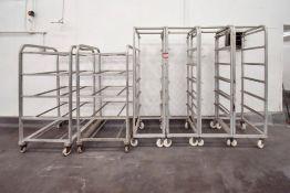 6 Rolling sheet racks on wheels