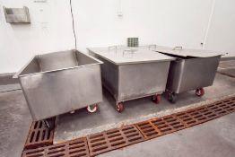3 212 Gallon Capacity Gondolas on Casters