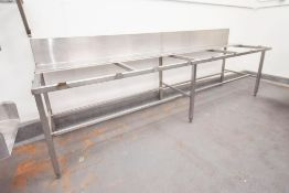 Stainless Frame with tote slots and Splash Back