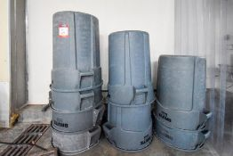 8 Brute Trash Cans