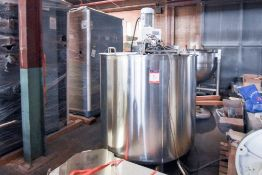 Lee Jacketed Mixing Tank 250 Gal with Sweep and Agitation