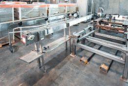 Modular Conveyor with Stainless Steel Belt 14' Length