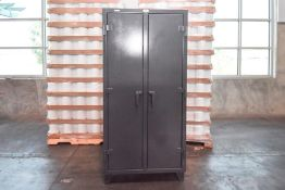 Stronghold Safety Cabinet holding VAC- U - Max Spare Parts Cabinet