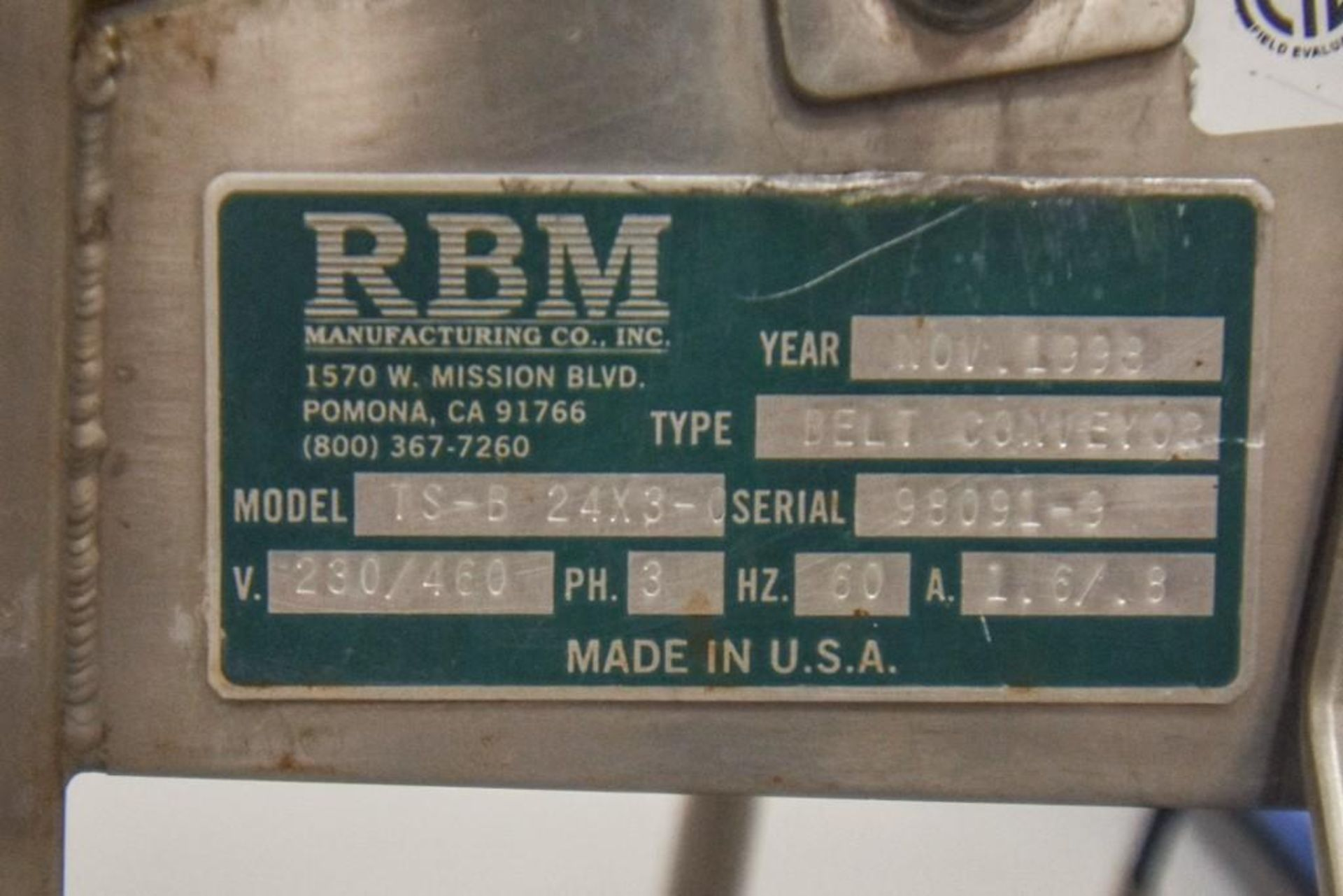 RBM Vibratory Deck With Food Grade Conveyor TS-B 24X3-0 - Image 7 of 7