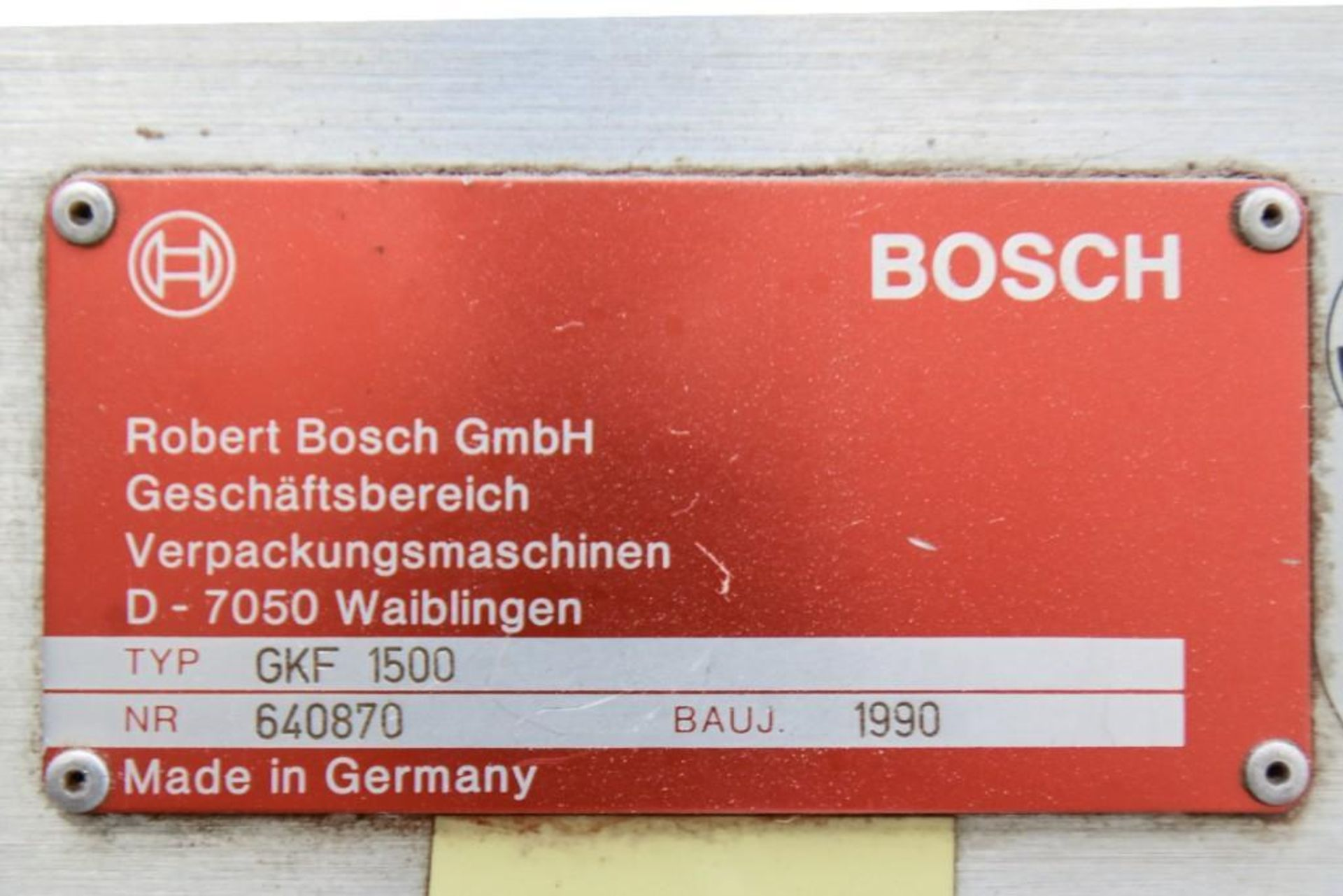 Bosch 1500 Encapsulation Machine - Image 10 of 11