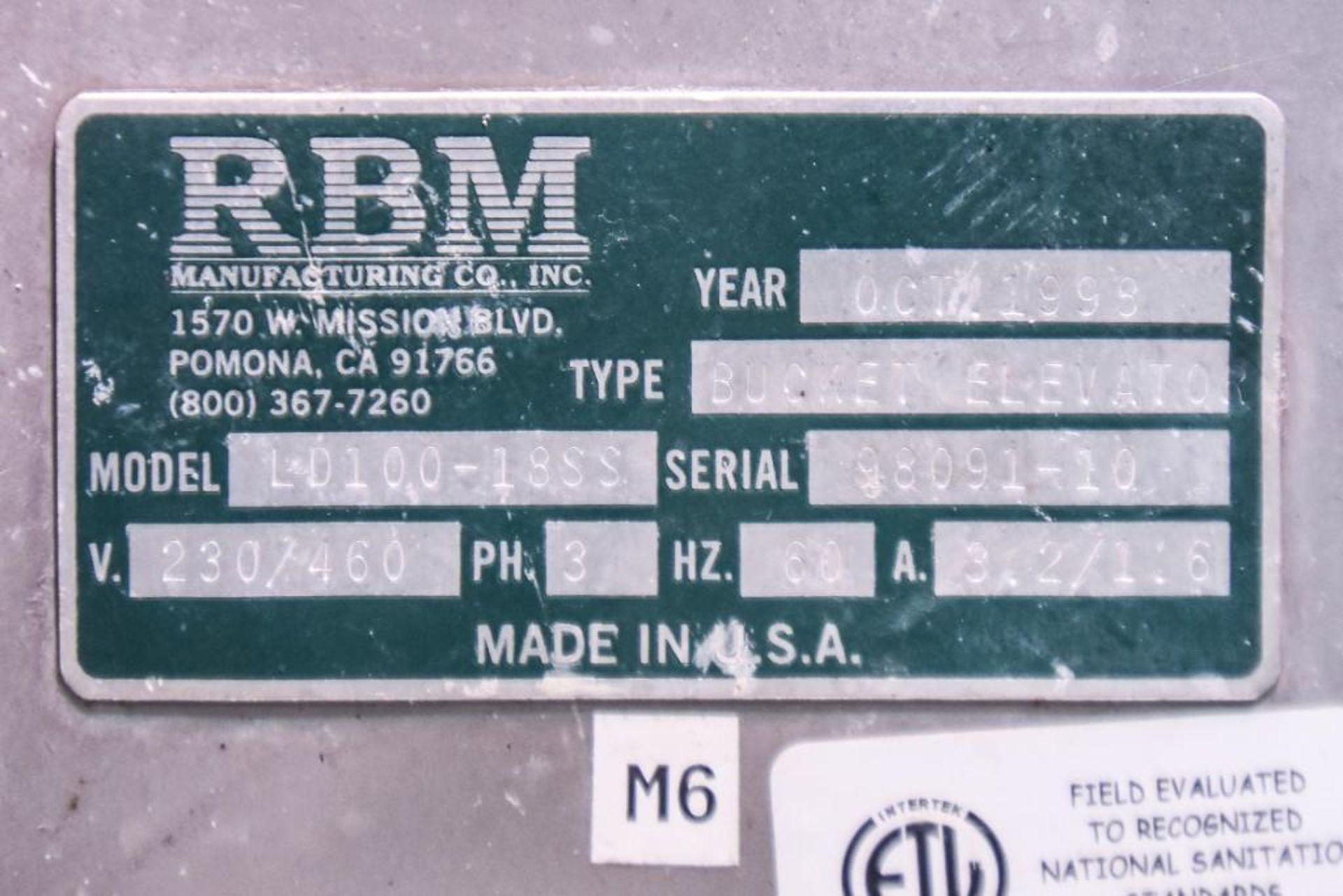 RBM Bucket Elevator LD100-18SS - Image 6 of 6