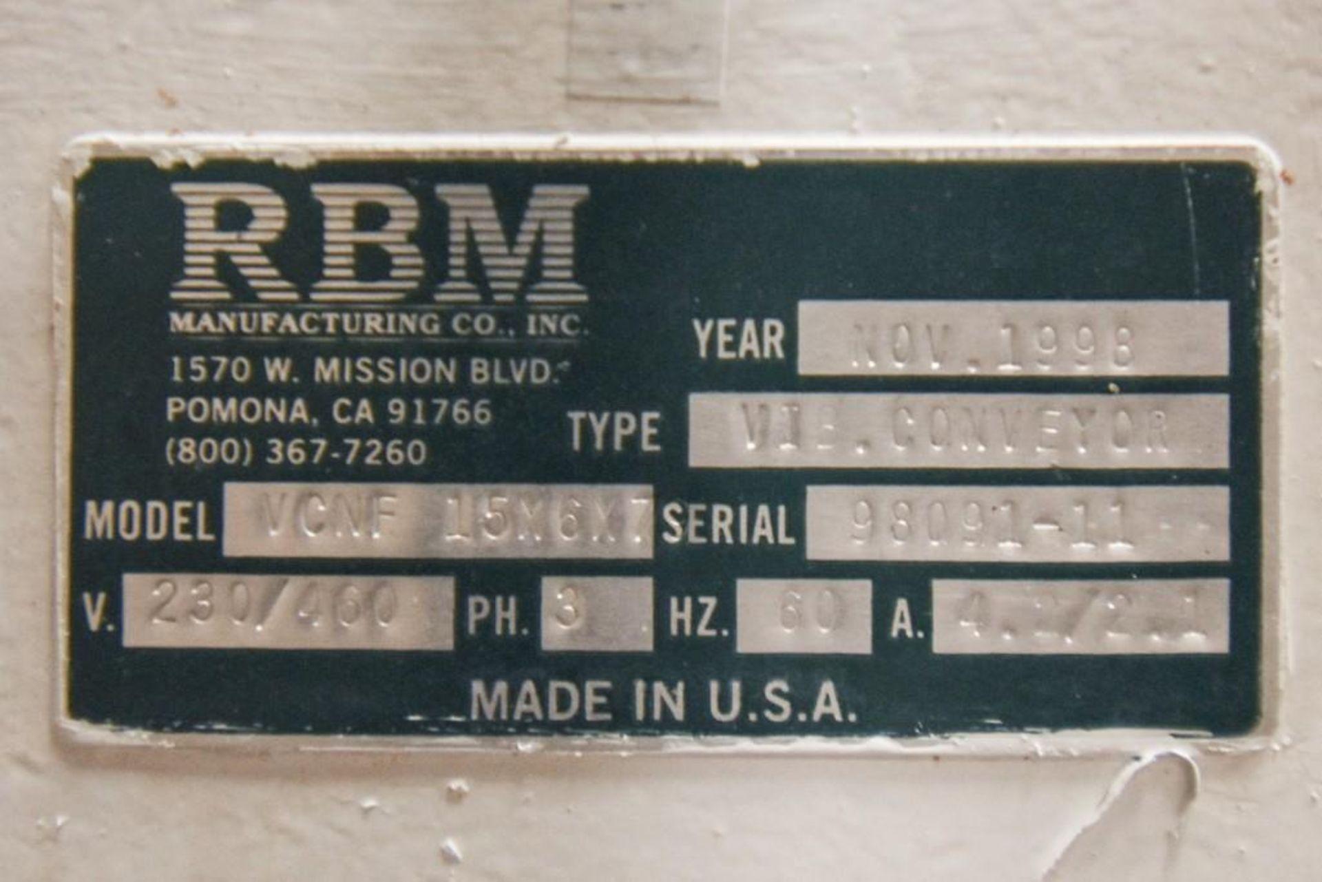 RBM Vibratory Deck VCNF-15X6X7 - Image 6 of 6