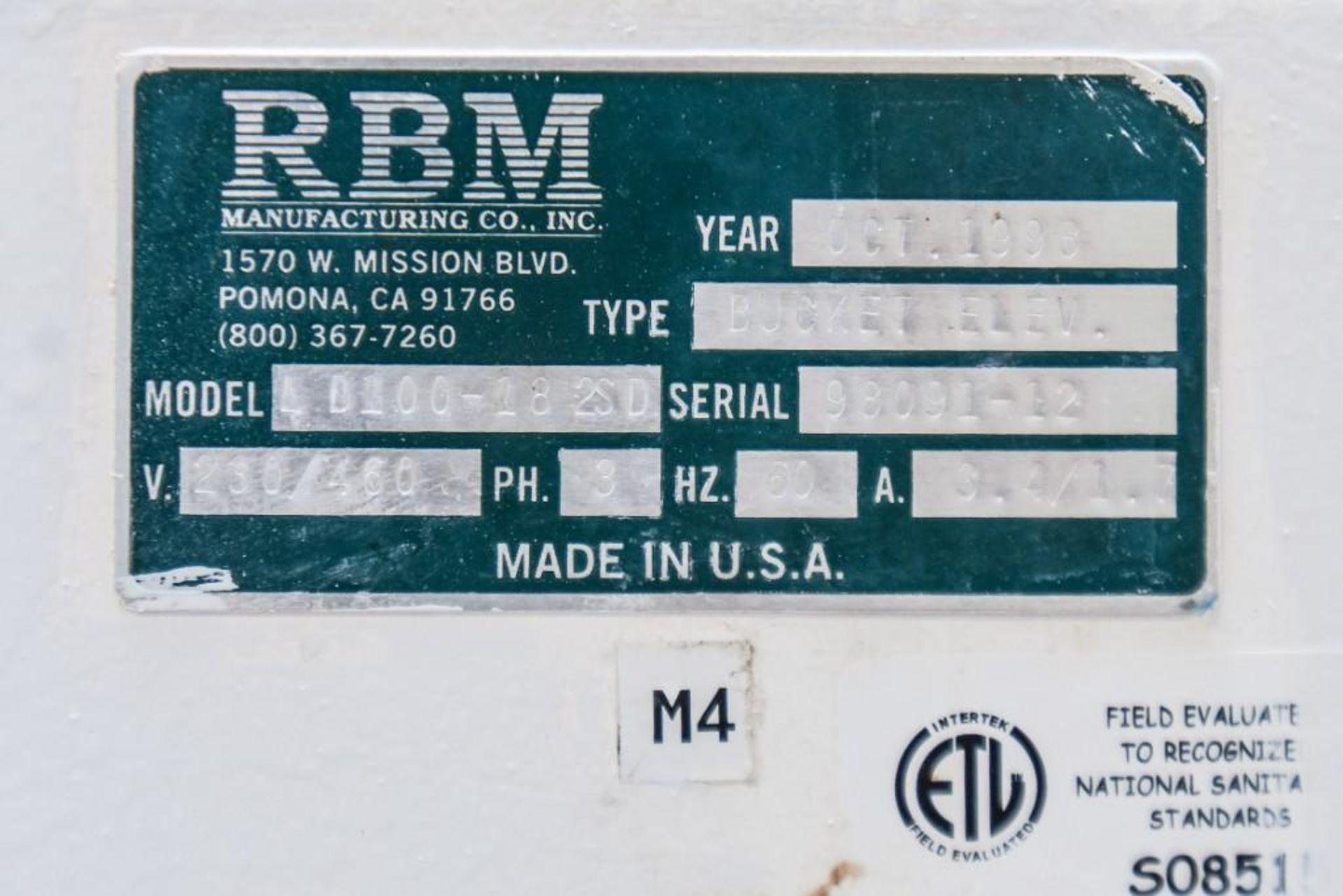 RBM Bucket Elevator LD100-18 2SD - Image 4 of 6