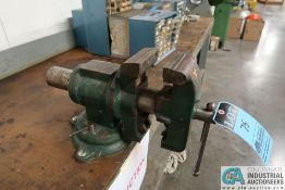 """5"""" MULTI-PURPOSE BENCH VISE W/ LOWER ROUND STOCK VISE **Loading Fee Due the """"ERRA"""", $25.00**"""