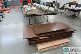 FOLDING TABLES TO 8' LONG **DELAYED REMOVAL - PICKUP 2-3-2021**