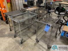 (LOT) (5) WIRE FRAME CARTS